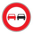 کتاب آیین نامه جدید - علائم راهنمایی و رانندگی - سبقت ممنوع