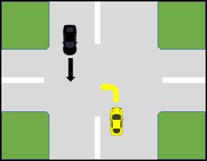 کتاب آیین نامه جدید - حق تقدم عبور برای حرکت مستقیم و گردش به چپ