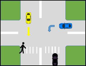 کتاب آیین نامه جدید - حق تقدم عبور با عابر پیاده در محل های خط کشی شده